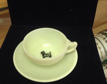 McKee Laurel Scotty Dog childs cup & saucer