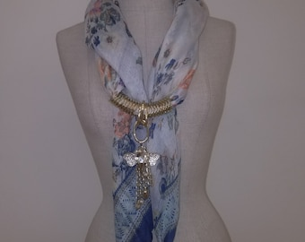 Scarf with Jewelry Accessories