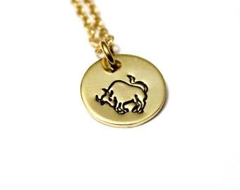 Taurus Sterling Silver Constellation Necklace, Taurus Zodiac Necklace Women Men, Taurus Horoscope Gold Pendant, Astrology Taurus gift