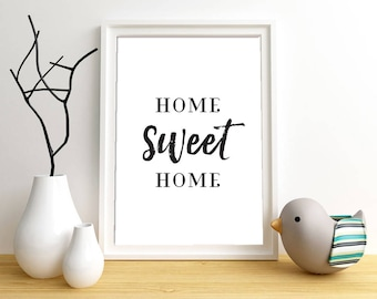 Home sweet home   apartment decor   wall decor   Housewarming Gift   New house gift   New home   Love home