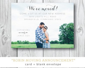 Robin Moving Photo Announcements