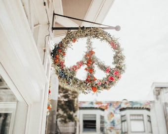 Peace Sign, Flowers, Wall Art, Print, Decor, Hippie, Haight and Ashbury, San Francisco, Digital Download