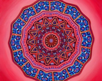 She Opens - Mandala-  archival print on photo paper