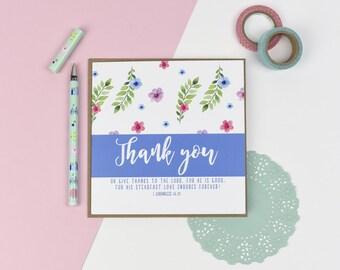 Thank you Luxury card - Floral card - Christian card