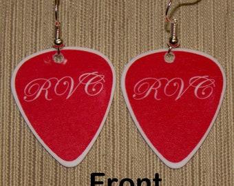 Authentic Heart (Red Velvet Car, Ann) Guitar Pick Earrings