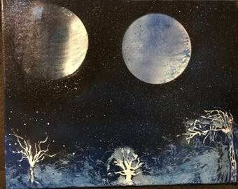 2 Moon earth