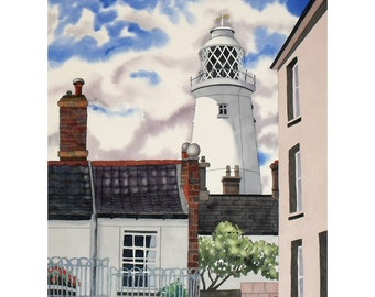 Lighthouse, Southwold -  Original Watercolour Seaside Painting