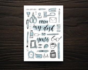 My Desk to Yours, Greeting Cards, Snail Mail, Cards, Stationery