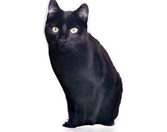 Black cat,Cat Cushion,Black and White cat cushion,Black Cat Decor,Black Cat Pillow,Holloween,Pets,Cat Gifts,Black Cat Gifts,Black Cat prints