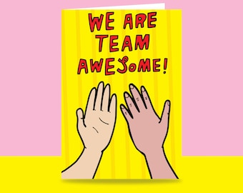 Greeting Card - We Are Team Awesome! | Valentine's Day Card | Romantic Card