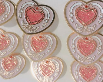 Sailor moon enamel pin, magical girl pin, anime gifts pins, kawaii pin, cute enamel pin, soft enamel pin, glitter pin, sailor moon gift
