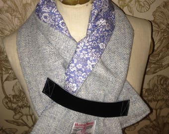 Harris Tweed Scarf neck warmer with Liberty print lining
