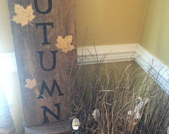 Autumn in the Air Rustic Sign