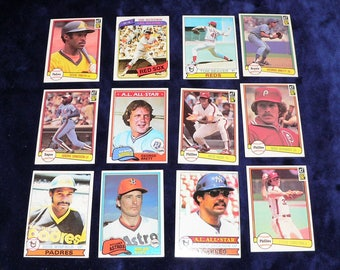 1970s & 80s Baseball Card Starter Collection 12 Superstar Cards