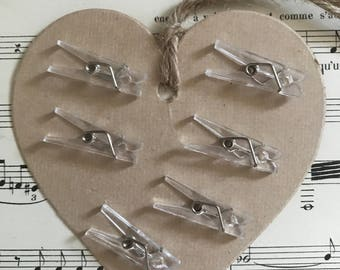 Lot 17 transparent small clips