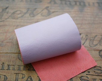 Leather Sheet leather Panel Super Soft Kid Leather Strip 9x3inches Lilac