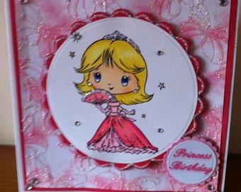 6x6 Size Fairy Birthday Card