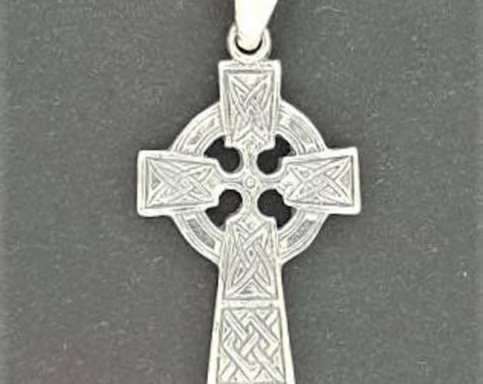 Medium Celtic Cross in Sterling Silver