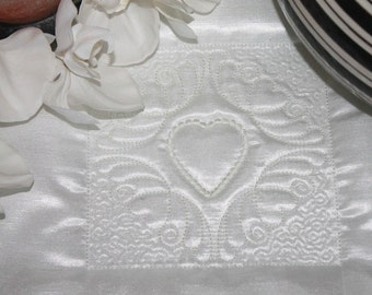 Machine Embroidery Design - Heart # 9 Quilting Block- Trapunto  4 sizes