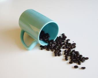 Vintage, Waechtersbach Mug, Turquoise Mug, Plain, German Ceramics, Elbow Handle, Coffee Mug, Tea Mug, Minimal, German Design, Simple, Large