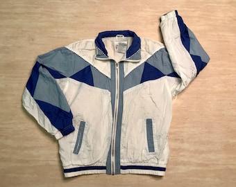 80s Windbreaker. Ladies Windbreaker. White Windbreaker. Retro Windbreaker. 80s clothing. 80s clothing women. 1980s. Small Women. vintage