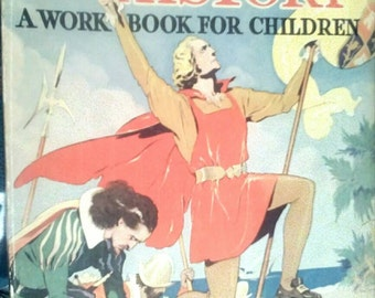 Sale-1938 Whitman American History  Childrens Workbook