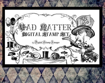 Mad Hatter Digital Stamp Set