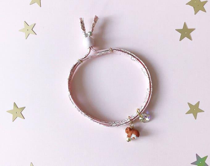 Liberty of London Charm Bracelet for Little Girls, Hamster Charm, giddyupandgrow