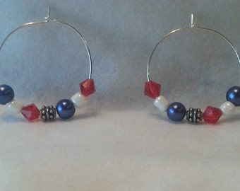 Red White and Blue ear wires
