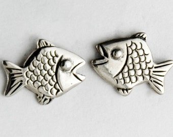 Fish Sterling Silver Post Earrings