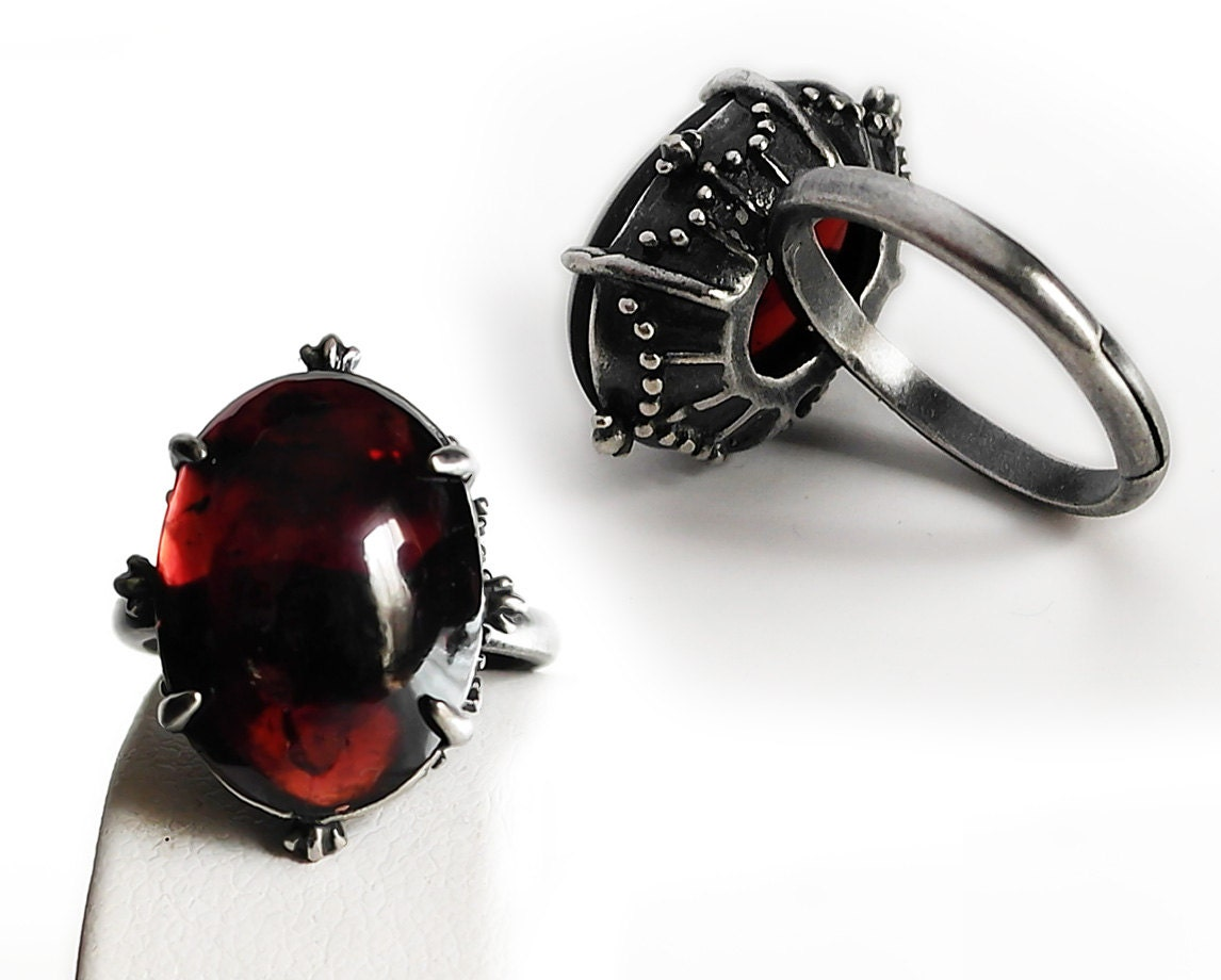 thomas image sabo ring rings red rose royalty stone gold