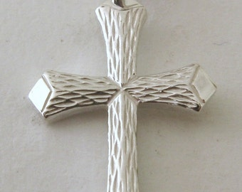Genuine SOLID 925 STERLING SILVER Cross charm/pendant