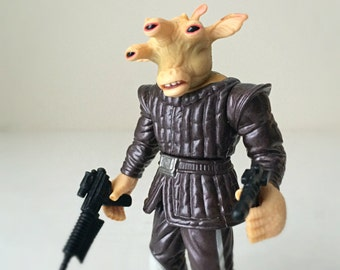 Star Wars Action Figure Gift, Ree-Yees with Blaster, 90s Toy, A New Hope, Mos Eisley Cantina Alien, Star Wars Trilogy