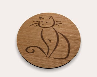 Cat Coaster 262-116 (Set of 4)