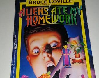 Vintage Aliens Ate My Homework paperback novel by  Bruce Coville