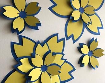 Wall Flower Decoration Set