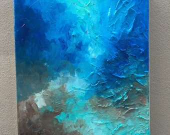 Ocean 10x12 abstract canvas painting