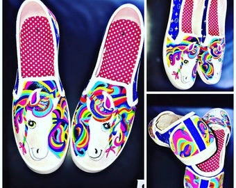 Unicorn Hand-Painted Custom Shoes