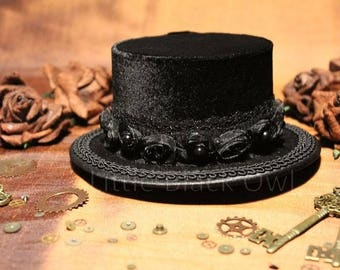 Mini top hat steampunk 'black pearl'