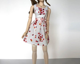 Dollfie Dream Blossom Sun Dress in White