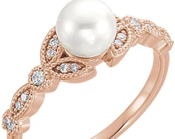 52 Pearl Engagement Rings & Styles