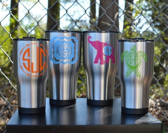 Personalized Stainless Steel Tumbler ~ Monogram Tumbler ~ Personalized Rtic Tumbler ~ Gifts for Her ~ Gift for Him
