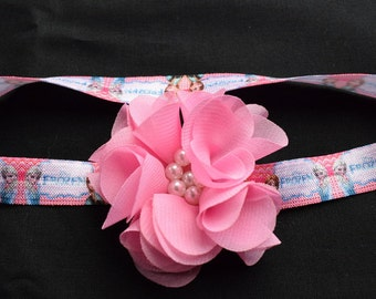 Princess Headband with Pink Chiffon Flower