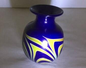 Charles Lotton glass mini vase 1974
