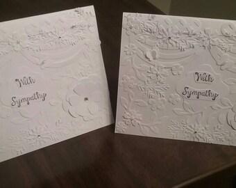 White on White Sympathy Cards