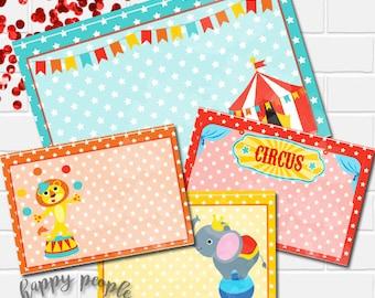 Circus Food Tents, Circus Food Label, Circus Decorations, Circus Birthday Party Decor, Circus Printables, Circus Theme Party, Carnival Food