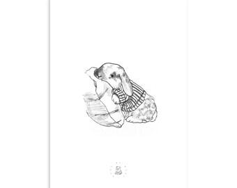 Custom Bunny Illustration