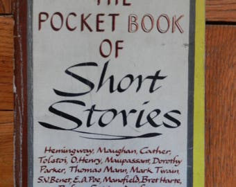 Vintage 40's The Pocket Book Of Short Stories Various Authors 22 Stories Paperback Book 1945