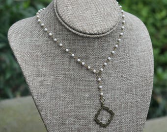 Rosary Y-drop Necklace with Pendant