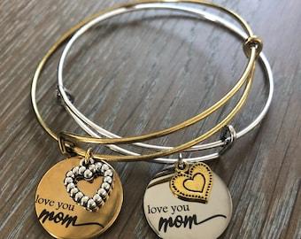 Love You Mom Mother's Day Bracelet